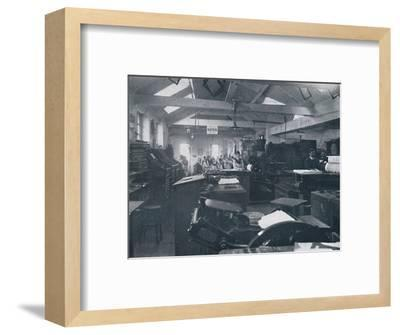 'In the Composing Room', 1916-Unknown-Framed Photographic Print
