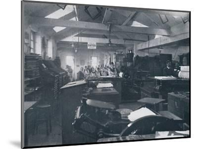 'In the Composing Room', 1916-Unknown-Mounted Photographic Print