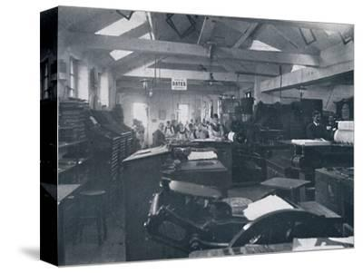 'In the Composing Room', 1916-Unknown-Stretched Canvas Print