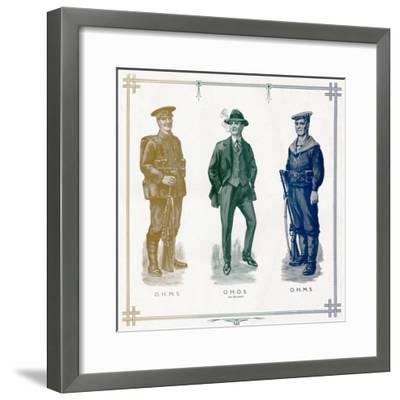 'O.H.M.S, O.H.O.S. (on his own), O.H.M.S.', 1916-Unknown-Framed Giclee Print