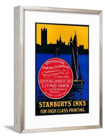 'Stansbury's Inks for High Class Painting', 1910-Unknown-Framed Giclee Print