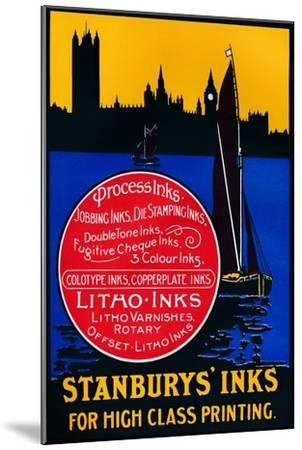 'Stansbury's Inks for High Class Painting', 1910-Unknown-Mounted Giclee Print