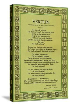'Verdun', 1916-Unknown-Stretched Canvas Print