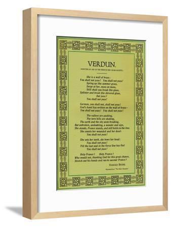 'Verdun', 1916-Unknown-Framed Giclee Print