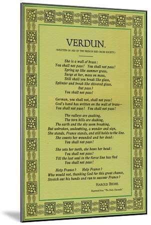 'Verdun', 1916-Unknown-Mounted Giclee Print