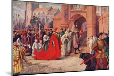 'Cardinal Wolsey possibly entering Hampton Court Palace', 1917-Unknown-Mounted Giclee Print