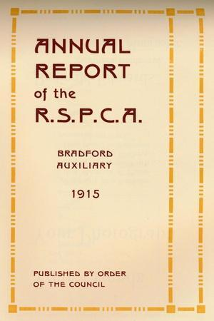 'Annual Report of the R.S.P.C.A.', 1916-Unknown-Framed Giclee Print
