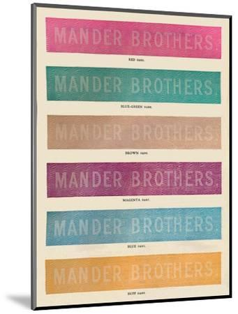 'Linotype Practise - Mander Brothers advert', 1910-Unknown-Mounted Giclee Print
