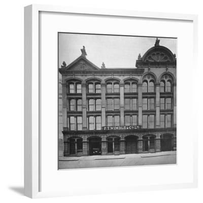 'F. T. Wimble & Co., Ltd. - Head Office, Warehouse and Factory', 1919.-Unknown-Framed Photographic Print