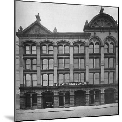 'F. T. Wimble & Co., Ltd. - Head Office, Warehouse and Factory', 1919.-Unknown-Mounted Photographic Print