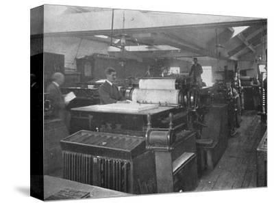 'Portion of Machine Room', 1916-Unknown-Stretched Canvas Print