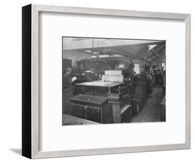 'Portion of Machine Room', 1916-Unknown-Framed Photographic Print