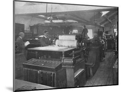 'Portion of Machine Room', 1916-Unknown-Mounted Photographic Print
