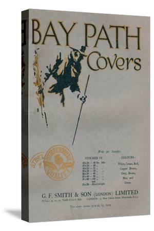 'Bay Path Covers - G.F. Smith & Son (London) Limited advert', 1919-Unknown-Stretched Canvas Print