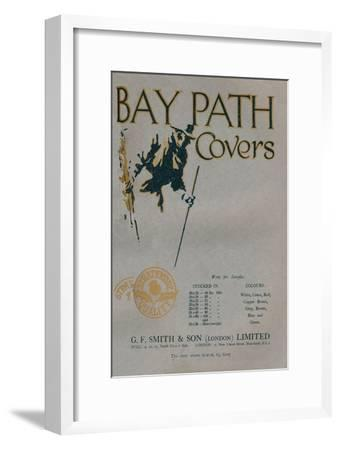 'Bay Path Covers - G.F. Smith & Son (London) Limited advert', 1919-Unknown-Framed Giclee Print