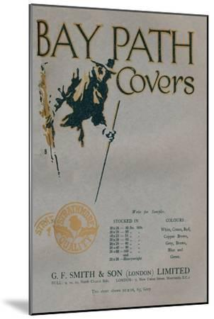 'Bay Path Covers - G.F. Smith & Son (London) Limited advert', 1919-Unknown-Mounted Giclee Print