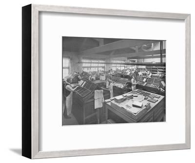 'View of Composing Room', 1919-Unknown-Framed Photographic Print
