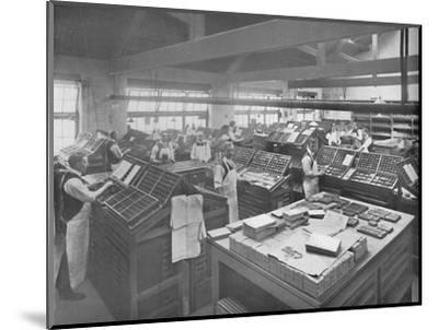 'View of Composing Room', 1919-Unknown-Mounted Photographic Print