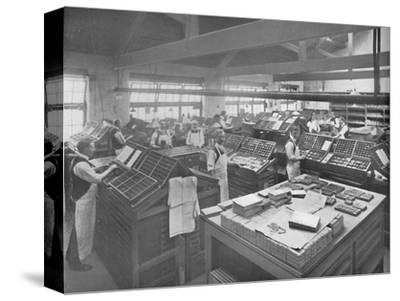 'View of Composing Room', 1919-Unknown-Stretched Canvas Print
