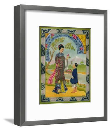 'Special M.G. Litho. Poster Paper - Olive & Partington Ltd. advert', 1910-Unknown-Framed Giclee Print