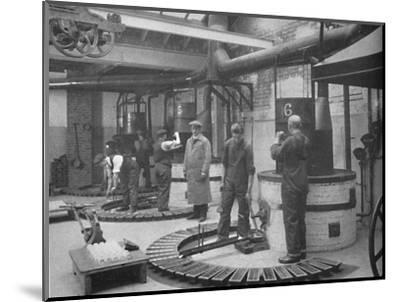 'Making Fryotype Printing Metal in the London Foundry', 1919-Unknown-Mounted Photographic Print
