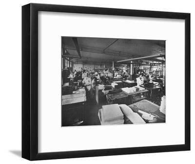'View of Forwarding and Binding Room', 1919-Unknown-Framed Photographic Print