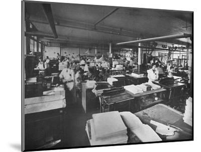 'View of Forwarding and Binding Room', 1919-Unknown-Mounted Photographic Print