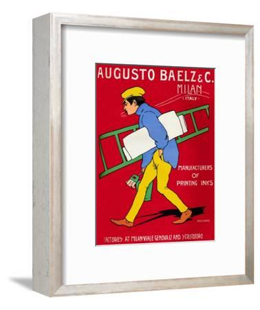 'Augusto Baelz & C. advert', 1907-Unknown-Framed Giclee Print