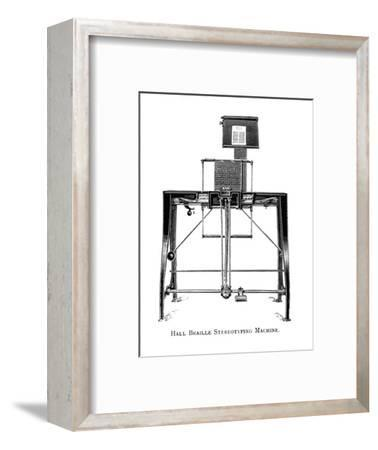 'Hall Braille Stereotyping Machine', 1919-Unknown-Framed Giclee Print