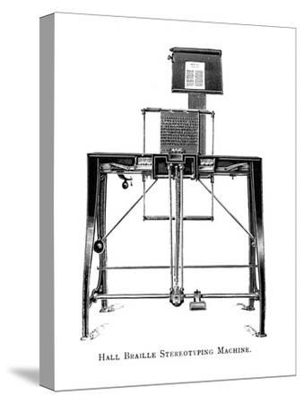 'Hall Braille Stereotyping Machine', 1919-Unknown-Stretched Canvas Print