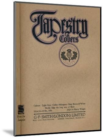 'Tapestry Covers - G. F. Smith (London) Limited advert', 1919-Unknown-Mounted Giclee Print