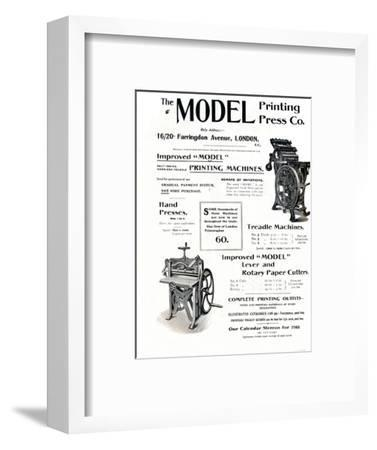 'The Model Printing Press Co.', 1910-Unknown-Framed Giclee Print