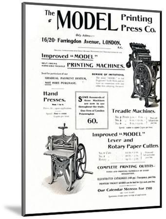 'The Model Printing Press Co.', 1910-Unknown-Mounted Giclee Print