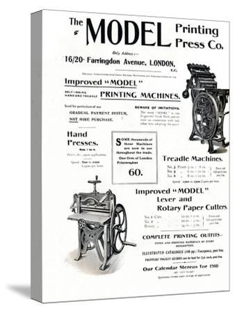 'The Model Printing Press Co.', 1910-Unknown-Stretched Canvas Print