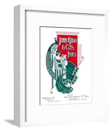 'John Kidd & Co's Inks advert', 1907-Unknown-Framed Giclee Print