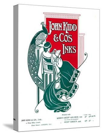 'John Kidd & Co's Inks advert', 1907-Unknown-Stretched Canvas Print