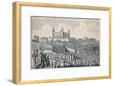 'Execution of the Earl of Strafford', c1641, (1903)-Wenceslaus Hollar-Framed Giclee Print