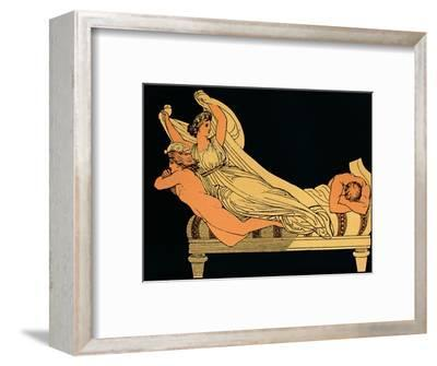 The Empty Joy That Dwells In the Dreams of the Night, 1880-Flaxman-Framed Giclee Print
