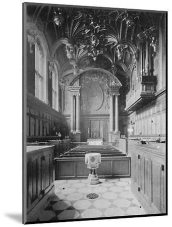 'The Chapel, Hampton Court Palace', 1903-Unknown-Mounted Giclee Print