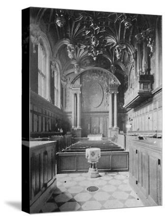 'The Chapel, Hampton Court Palace', 1903-Unknown-Stretched Canvas Print