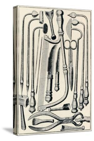 'Surgical Instruments', 1639, (1903)-Unknown-Stretched Canvas Print