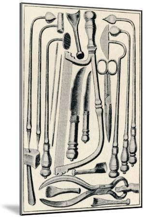'Surgical Instruments', 1639, (1903)-Unknown-Mounted Giclee Print