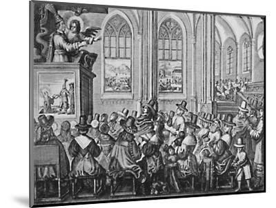 'Oliver Cromwell Preaching', c1650, (1903)-Unknown-Mounted Giclee Print