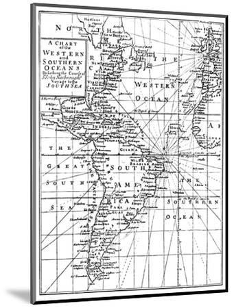 'Sir John Narbrough's Voyage', c1670, (1903)-Unknown-Mounted Giclee Print