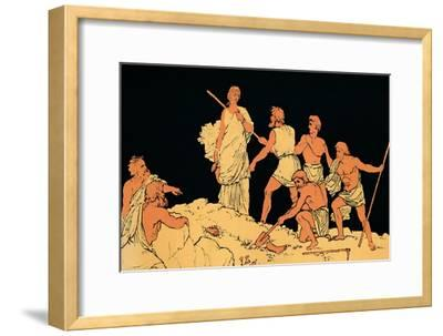 'Antigone and the Body of Polynices', 1880-Lachmann-Framed Giclee Print