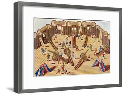 'Artillerists at Work (MS. Add. 15,726)', 1903-Unknown-Framed Giclee Print