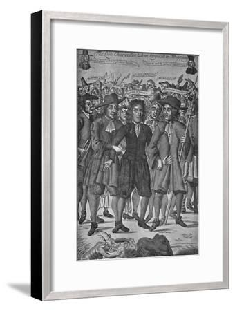 'Lord Chancellor Jeffreys Taken in Wapping', 1688, (1903)-Unknown-Framed Giclee Print