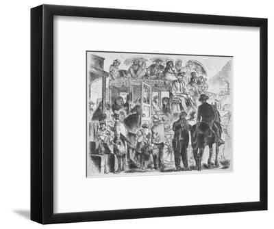 'Coaches to resorts and hotels', c1859, (1938)-Unknown-Framed Giclee Print