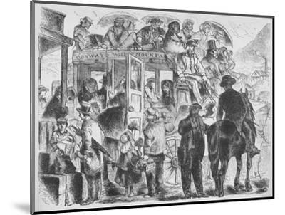 'Coaches to resorts and hotels', c1859, (1938)-Unknown-Mounted Giclee Print