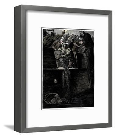 Boston Tea Party, 26 December 1773-Unknown-Framed Giclee Print